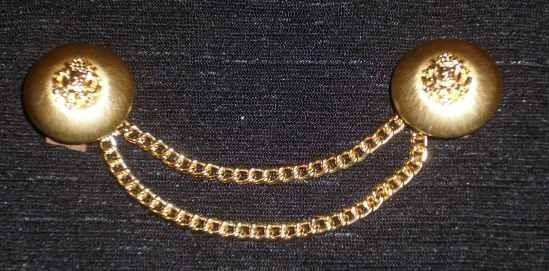 Trachtenknöpfe mit Kettchen gold Nr.3b
