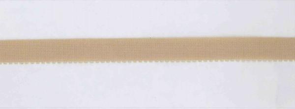 Miedergummi haut mit Zähnchen 15mm breit