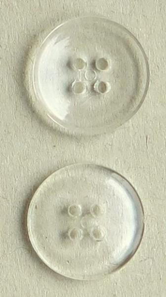 Wäscheknöpfe transparent klar 6 Stück
