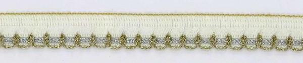 Lurex Spitzenbesatz gold-silber 15mm breit