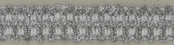 3. Lurex Besatz silber-weiß 1 Meter