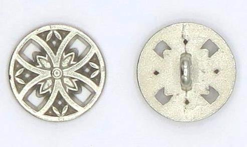 Trachtenknopf 1. Metall silber Ø15mm