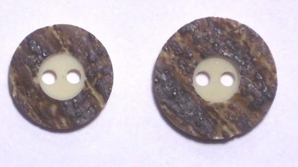 Hirschhornknopf 2loch Rand breit