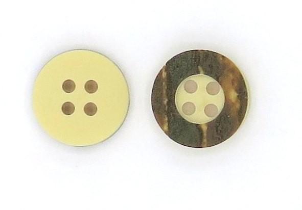 Hirschhornknopf 4loch Rand breit