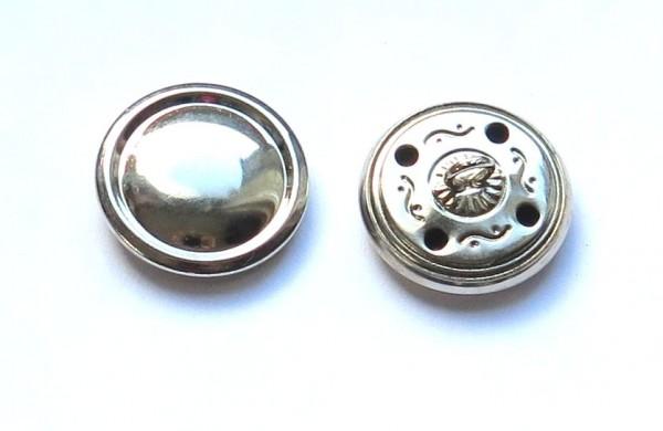 3. Uniform Knopf metall mit Rand und Steg