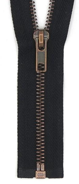 Jackenreißverschluss 55cm teilbar Kupfer 55