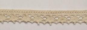 Baumwollspitze beige mit Lurex gold 1 Meter