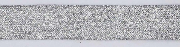 Tresse aus Lurex silber 20mm