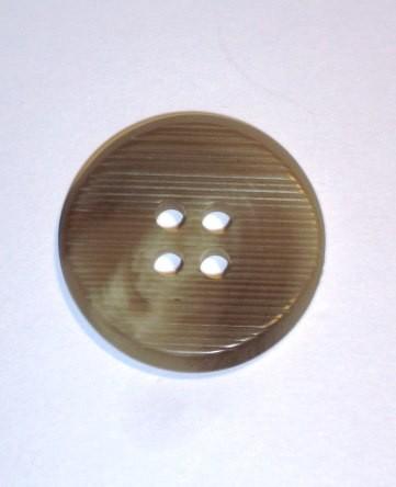 Büffelhorn Knopf beige Ø 30mm