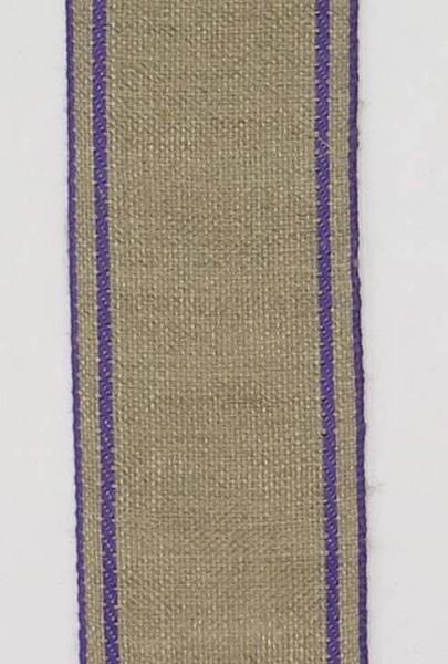 Stickband Leinen grau 5cm