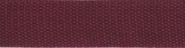 Gurtband für Taschen 3cm weinrot 1m