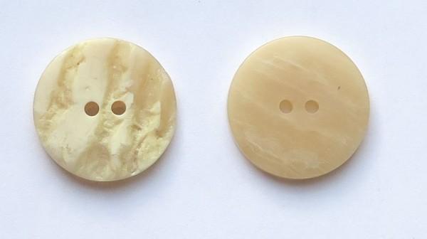 Hirschhornknopf Imitat 2loch natur-beige