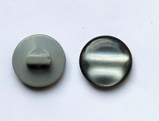 Knöpfe mit Steg Ø 15mm 8 Stück dunkelgrau