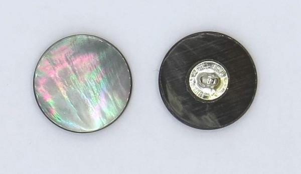Perlmutt Knöpfe mit Steg grau 8 Stück