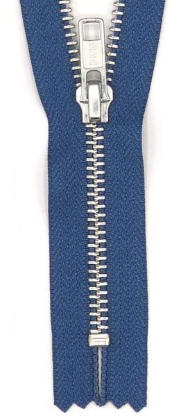 Hosen-Reißverschluss metall silber 15cm