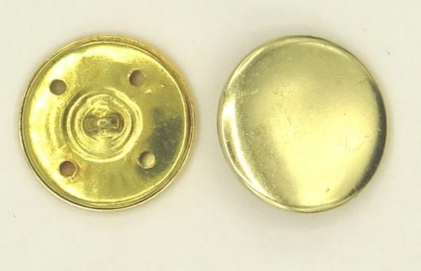 Uniformknopf gebürstet goldfarben Ø 24mm