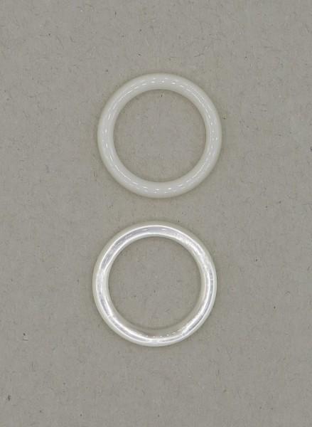 Ringe aus Perlmutt-Imitat 10 Stück