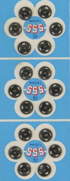 Druckknöpfe schwarz Ø 9 mm