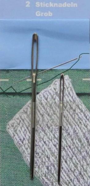 Stick/Wollnadeln 2er stumpf