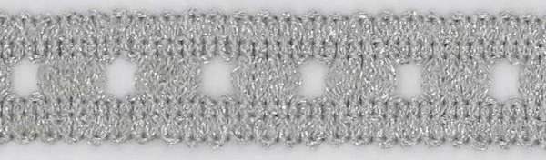 1. Lurex Besatz silber.
