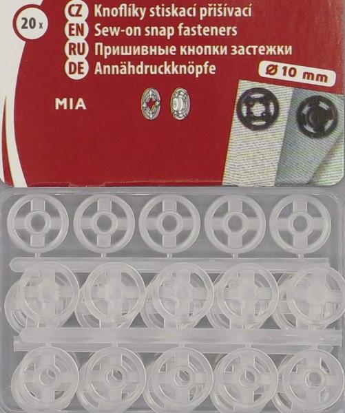 Druckknöpfe Transparent 10mm