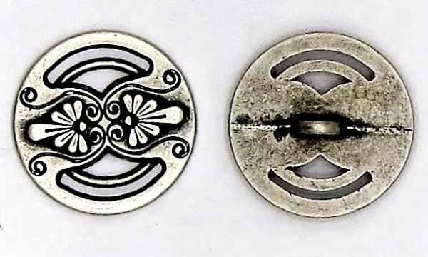 Trachtenknopf 2. matt silber metall