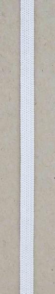 Masken Flach-Elastik softig-weich weiß 6mm 5m