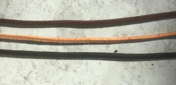 Lederband eckig aus Rinderleder 1 Stück