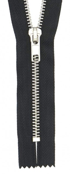 Hosen-Reißverschluss metall silber 20cm