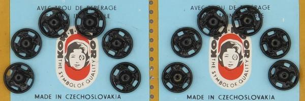 Druckknöpfe schwarz Ø 10 mm