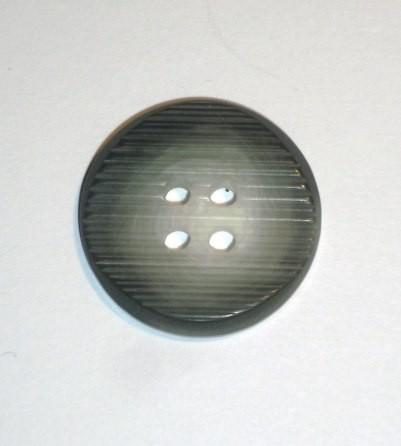 Büffelhorn Knopf grau Ø 28mm