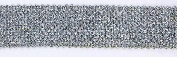 2. Lurex Besatz silber 1 Meter