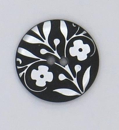 Zierknopf Blumendekor