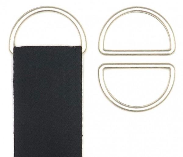 D-Ring silber matt 40 mm