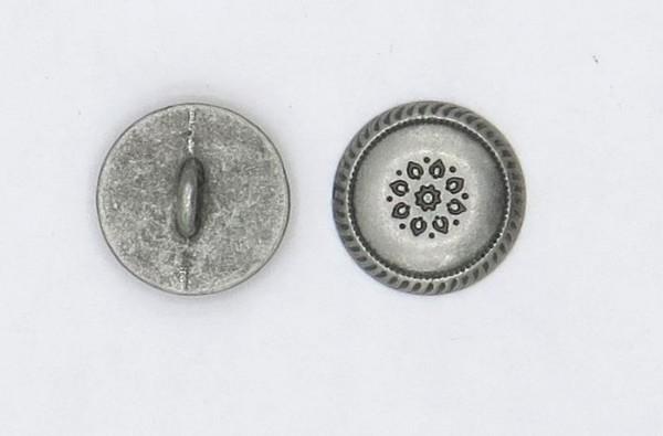 Trachtenknopf 4. altsilber metall Ø15mm