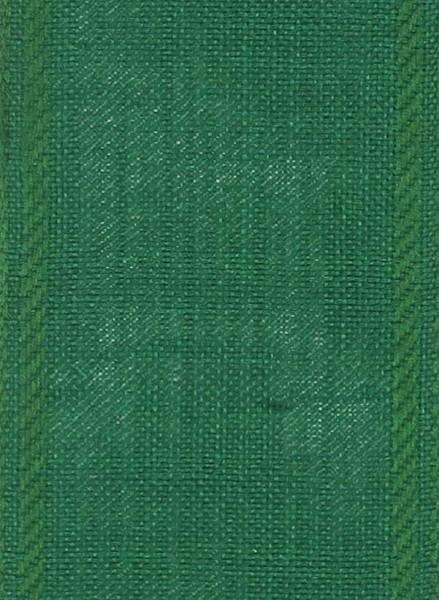 Stickband 7cm Leinen grün