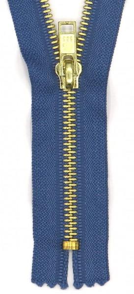 Jeans-Reißverschluss 20cm messing Schiene